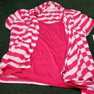 Pink layered shirt